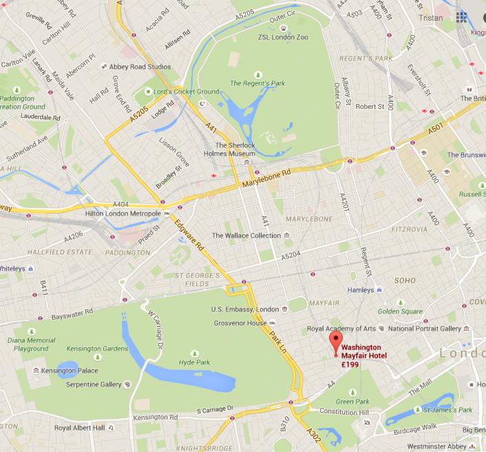 London parks map